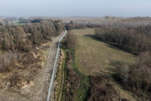 The newly erected border fence at the Hungarian-Croatian border on the 7th November 2015 outside Croatian city Torjanci. Hungary sealed off the border to Croatia after the flow of migrants rerouted into Hungary from Croatia arriving from Serbia.