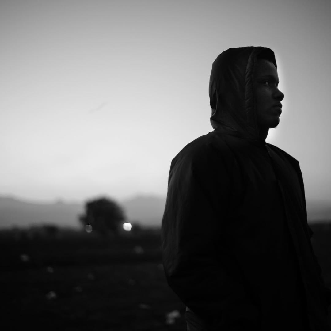 Algerian Fanfan waits at the border to Macedonia