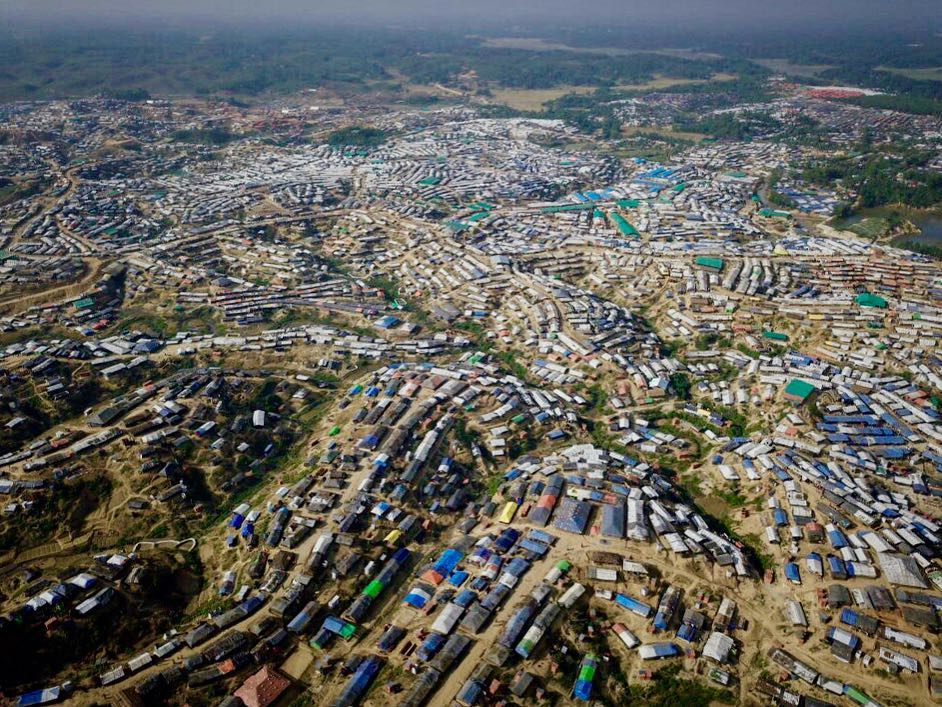 The scale of the Rohingya refugee camps is really unreal. This is just one view of the Kutupalong camp